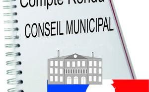 Conseil Municipal – Comptes-rendus