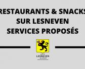Restaurants et Snacks ville de Lesneven – Services adaptés